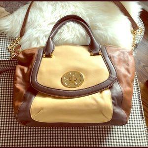 Emma Fox leather satchel